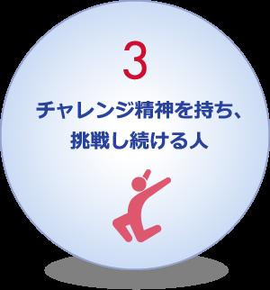 3.チャレンジ精神を持ち、挑戦し続ける人